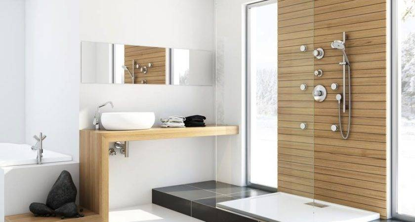 Modern Bathroom Unfinished Wood Interior Design Ideas