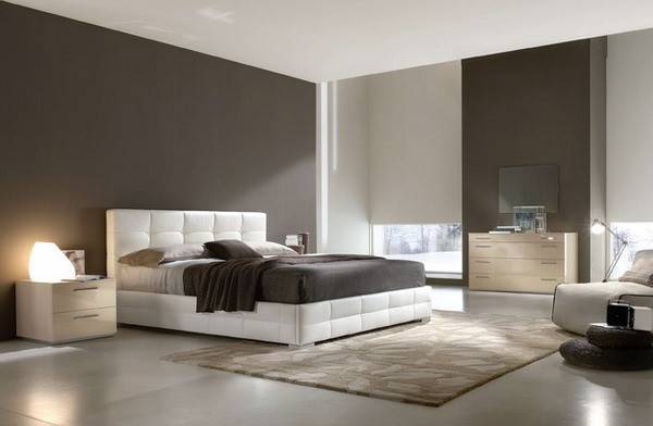 Modern Bedroom Ideas White Leather Bed Home