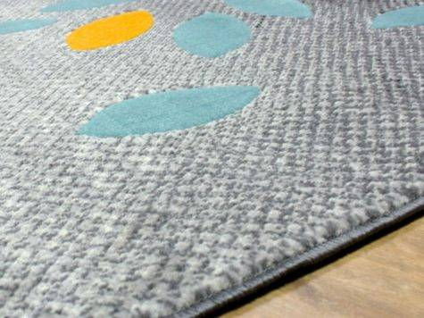 Modern Contemporary Next Colours Stunning Floral Grey Blue