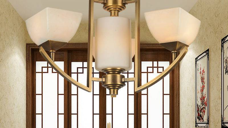 Modern Copper Small Chandelier Lights Brass Lighting