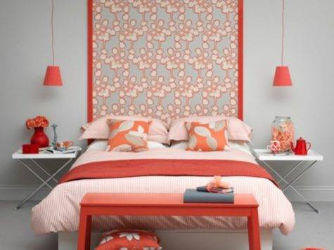 Modern Coral Bedroom Decorating Housetohome