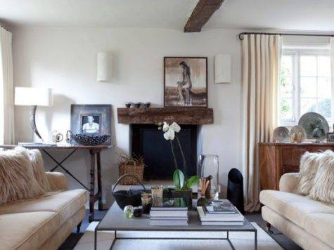 Modern Country Living Room Cosy Design Ideas