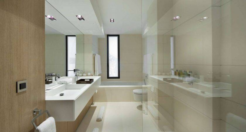 Modern French Villa Master Bed Bathroom Olpos Design