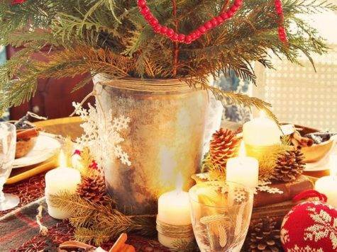 Modern Furniture Rustic Christmas Table Decorations