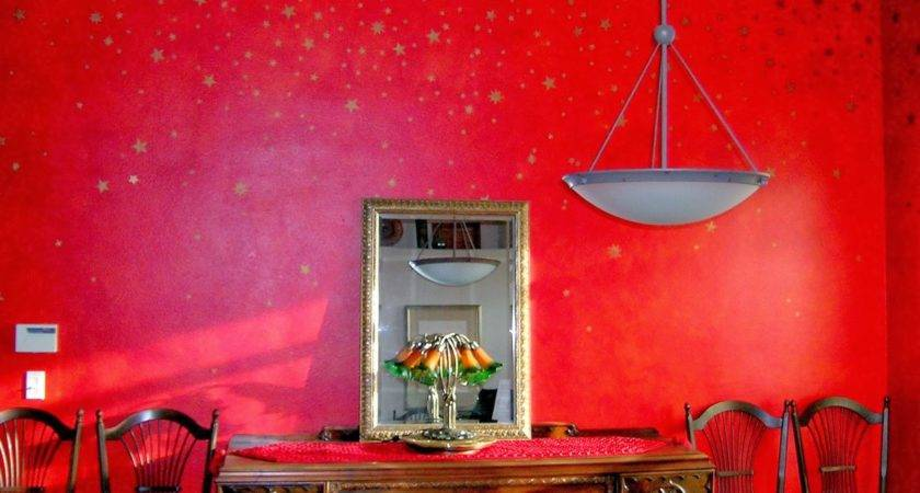 Modern Home Red Wall Painting Ideas
