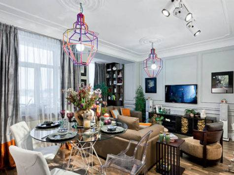 Modern Interior Design Eclectic Style Parisian Chic