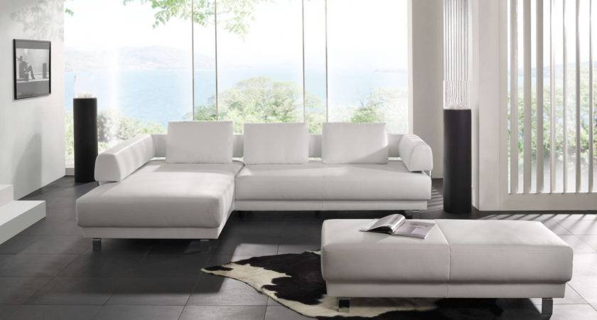 Modern Leather Sofas Living Room Home Combo