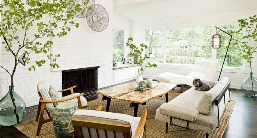 Modern Living Room Rustic Accents Several Proposals