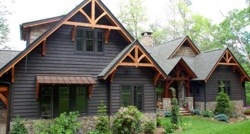 Modern Rustic Homes Black Exteriors Mountain