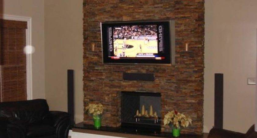 Modern Stone Fireplace Wall Ideas Designs