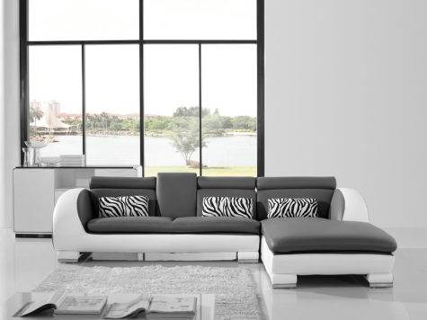 Modern White Grey Shape Sofa