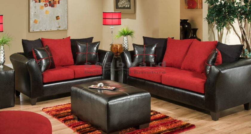 Modest Ideas Black Red Living Room Set Prissy Design