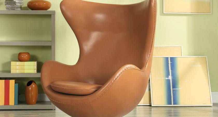 Modway Glove Leather Lounge Chair Terracotta Beyond