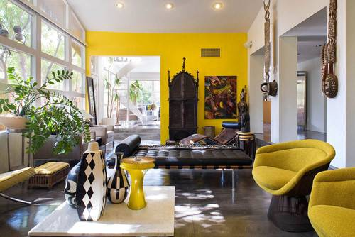 Mustard Color Wall Love