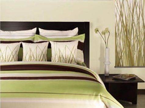 Natural Green Brown White Bedroom Decorating Envy