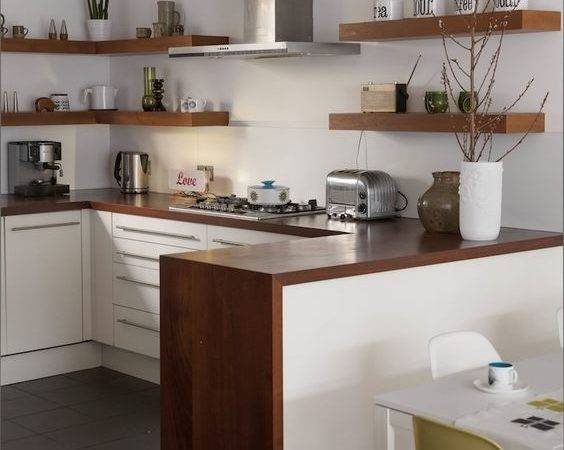 Natural Wood Floating Shelves Kitchen Ideas Trends