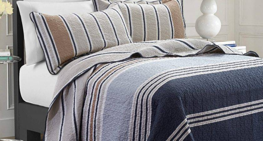 Navy Bedding Quilts Ease Style