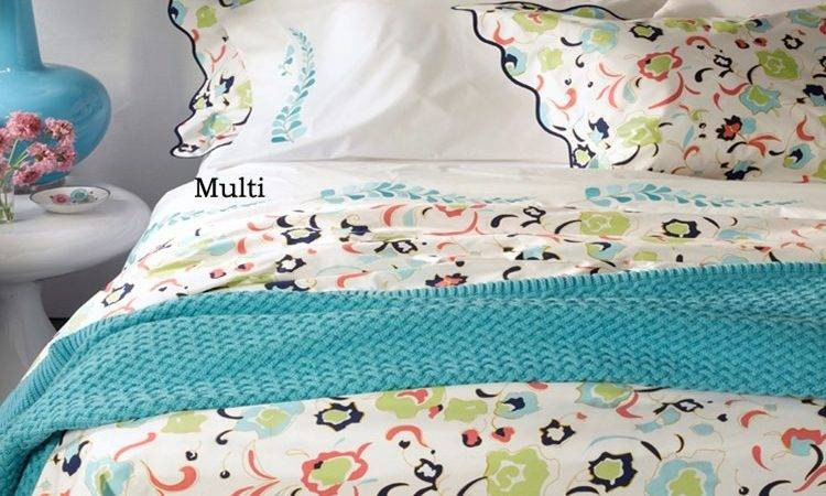 Navy Blue Coral Green Sheets Bedding Tuileries Lulu