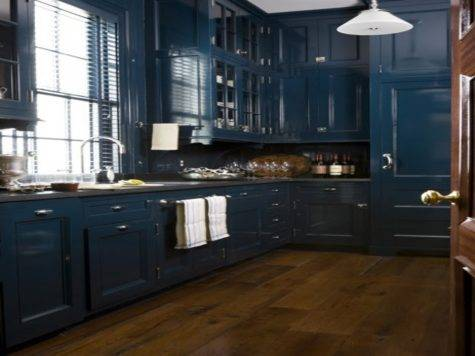 Navy Blue Kitchen Cabinets Having Moment