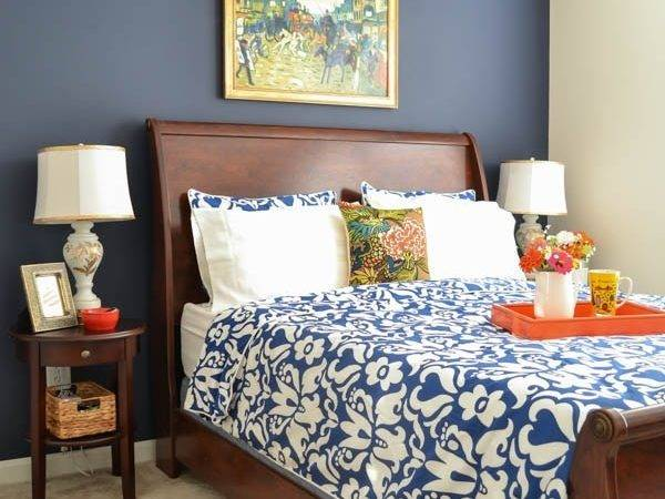 Navy Coral Bedroom Whats Home Story