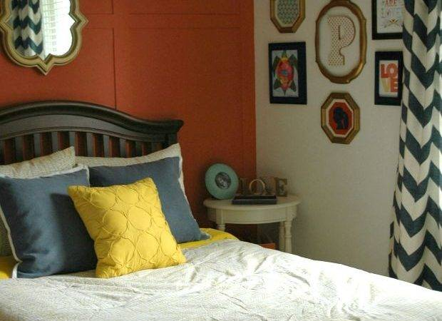 Navy Coral Yellow Bedroom Reveal Little House
