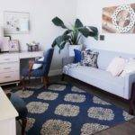 Navy Pink Gold White Grey Living Room Sources
