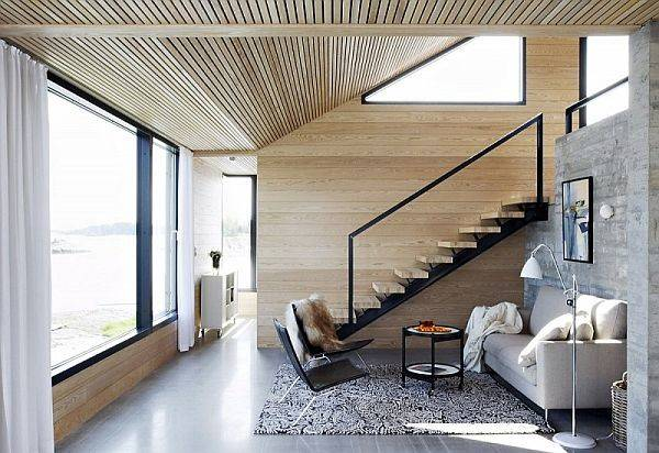 Neutral Color Small Modern Space Design Ideas Living