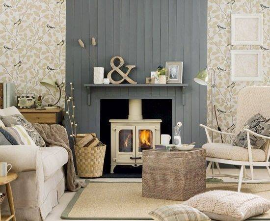 Neutral Country Living Room Decorating Ideas