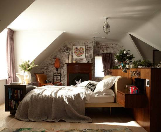 Neutral Country Style Bedroom Decorating Ideas