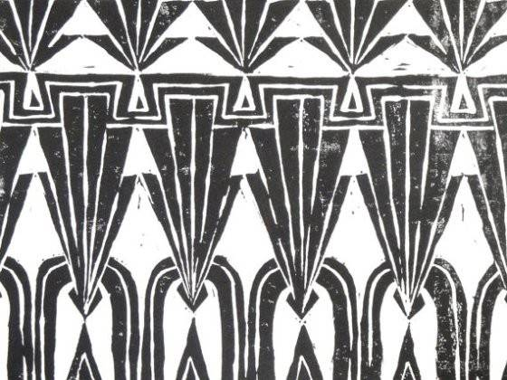 New Block Print Inspired Art Deco Architecture Lovely