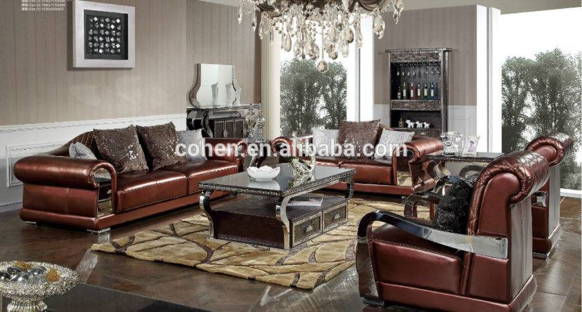 New Design Living Room Furniture Luxury Leather