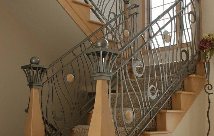 New Home Designs Latest Modern Homes Iron Stairs Railing