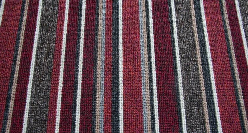 New Modern Stripe Carpet Stripey Striped Red Black Grey