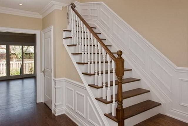 New Stairway Wainscoting Traditional Staircase