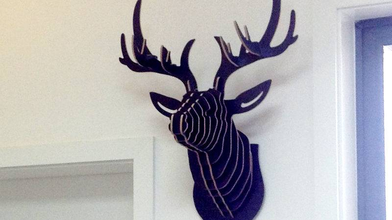 Nodic Deer Head Wall Wooden Crafts Home Decorations