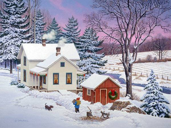 North Country Christmas John Sloane Art