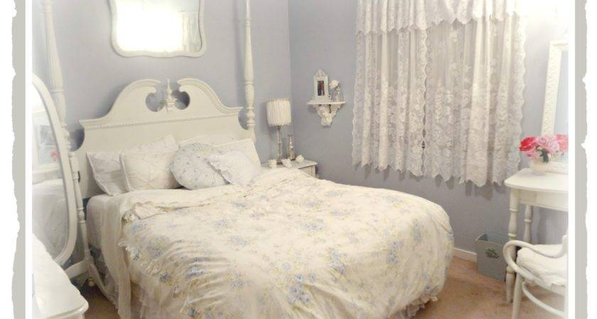 Not Shabby Chic Chandelier Guest Bedroom