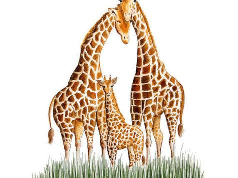 Nursery Wall Decor Giraffe Art Print Safari Tinytoesdesign