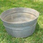 Old Metal Wash Tub Galvanized Fall Home Decor