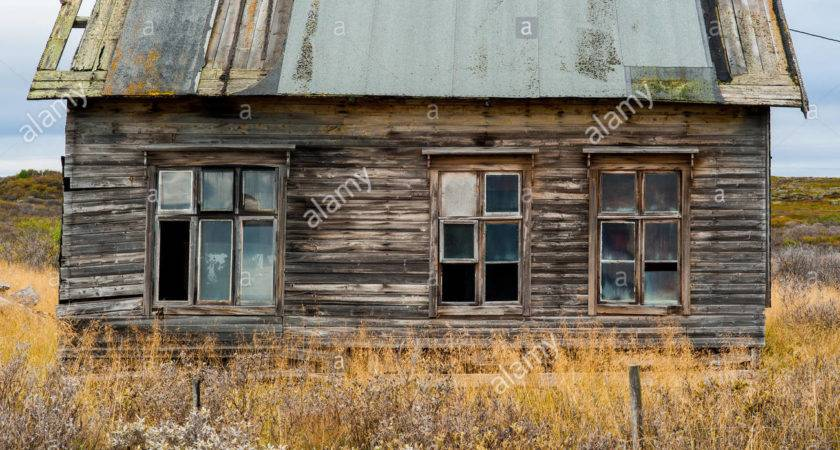 Old Wooden Decrepit Shabby House Need Repair
