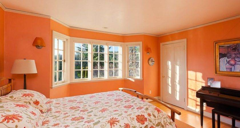 Orange Bedroom Paint Colors Small Spaces Try