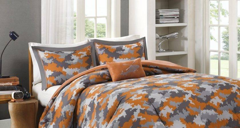 Orange Grey Bedding Sets More Ease