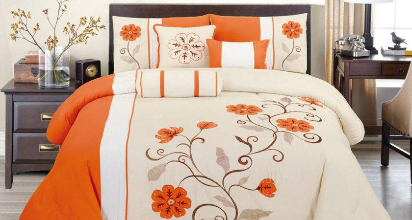 Orange King Comforter Sets