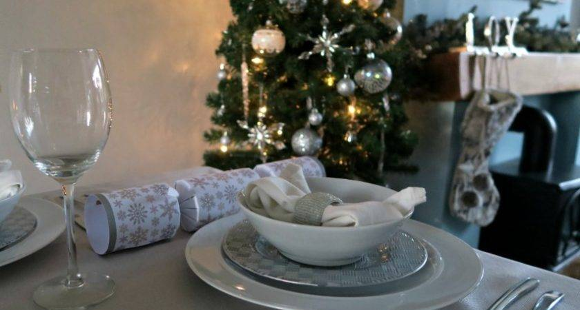 Our Silver White Christmas Table Renovation Bay Bee