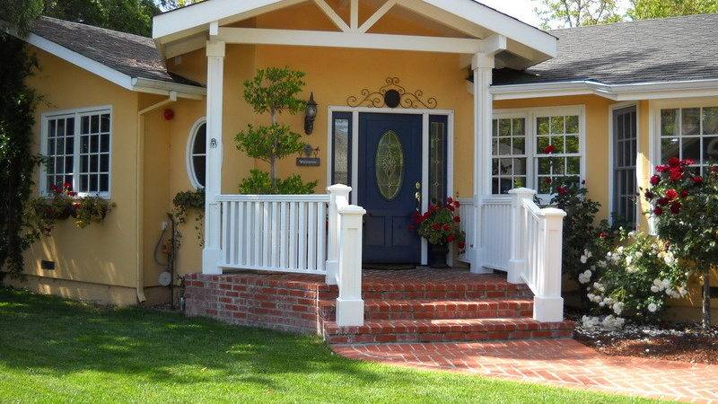 Outdoor Beautiful Yellow Paint Color Ideas House