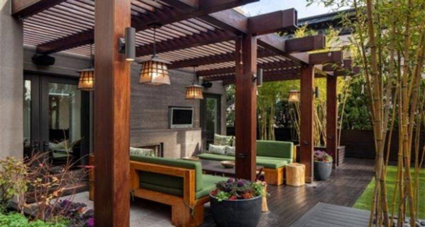 Outside Porch Light Modern Pergola Designs