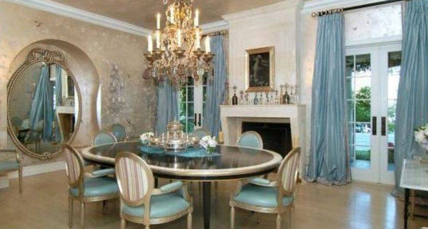 Outstanding Dining Furniture Accented Cool Blue Colors