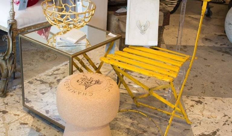 Oversized Portuguese Champagne Cork Stool Side Table