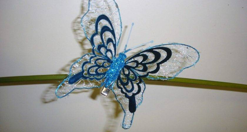 Pack Large Metallic Clip Butterfly Christmas