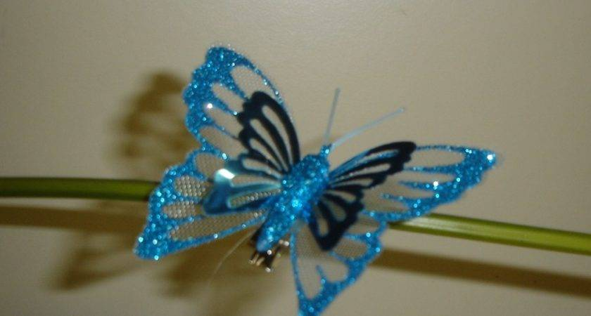 Pack Metallic Clip Butterfly Christmas Decorations